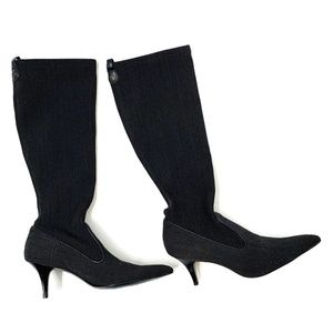 COLE HAAN Stretch Fabric Kitten Heel Boots 7.5